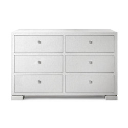 Frances Extra Large 6-Drawer Veneer, White