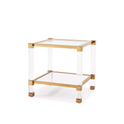 Santa Monica End Table - Antique Gold
