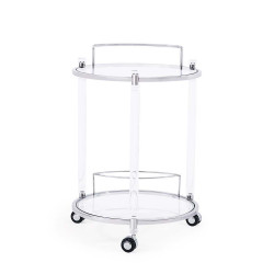 Wilcox Bar Trolley - Silver
