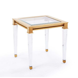 Presley Side Table - Antique Gold