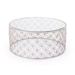 Raquel Cocktail Table - Silver