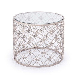 Raquel Side Table - Silver