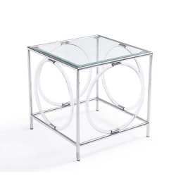 Ava Side Table - Silver