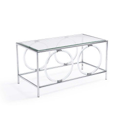 Ava Cocktail Table - Silver