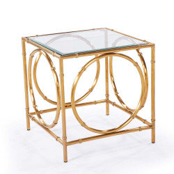 Lana Side Table - Antique Gold