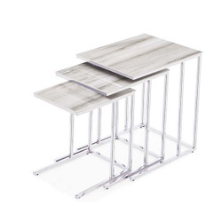Midtown 3 Piece Nesting Tables - White