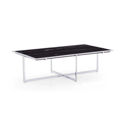 Marble And Silver Coffee Table.Blink Home Lenox Marble Top Cocktail Table Silver