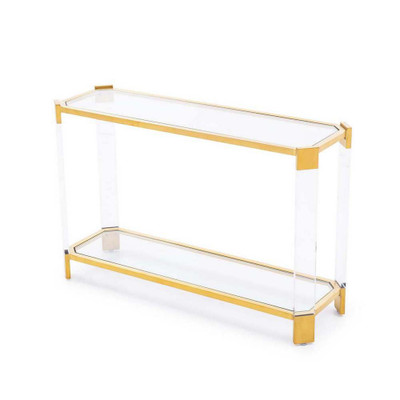 Lancaster Console Table - Antique Gold
