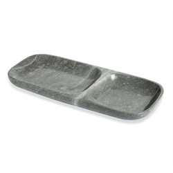 Harlow Dual Section Tray - Gray