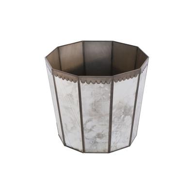 Antique Mirror Hexagonal Wastebasket