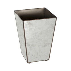 Antique Mirror Square Wastebasket Plain