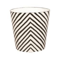 Oval Wastebasket Cream And Black Zebra