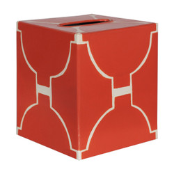 Kleenex Box Orange And Cream Pattern