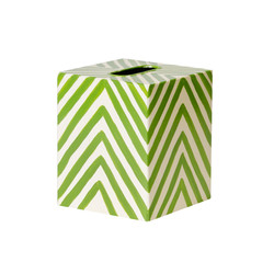 Kleenex Box Green And Cream Zebra