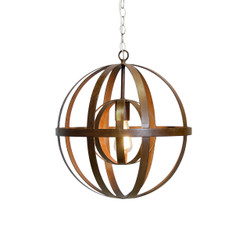 Pemble Iron Sphere Oxidized Chandelier