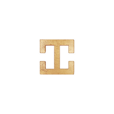 Candace Geometric Gold Leaf Hardware