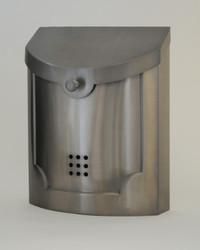 Ecco Transitional Style Mailbox- Satin Nickel