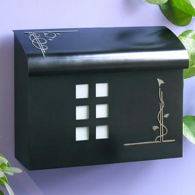 Ecco Arts & Crafts Style Mailbox- Black Pewter