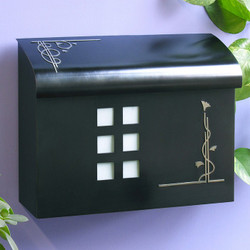 Ecco Arts & Crafts Style Mailbox- Black Pewter
