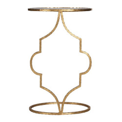 Willa Hammered Gold Leaf Oval Cigar Table
