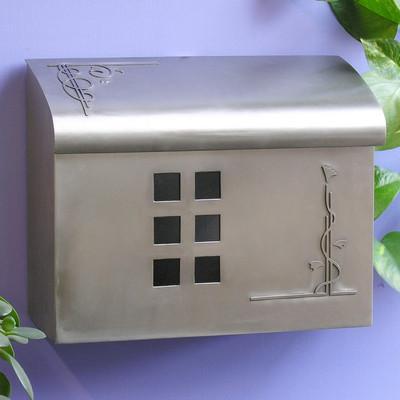 Ecco Arts & Crafts Style Mailbox- Satin Nickel