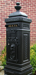 Ecco Victorian Style Tower Mailbox- Black