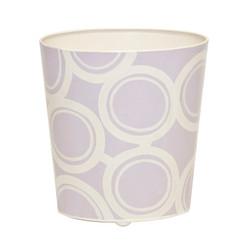 Oval Wastebasket Lavendar And Cream