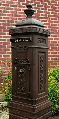 Ecco Victorian Style Tower Mailbox- Rust Brown