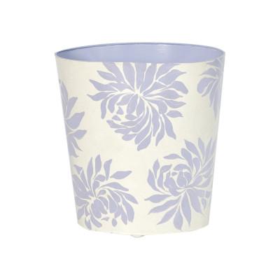 Oval Wastebasket Lavender Floral