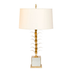 Boca Gold Leaf And Antique Mriror Lamp