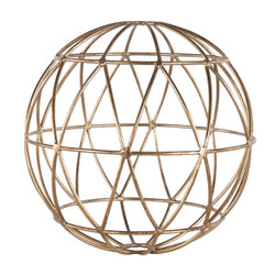 Atlas Gold Leaf 12 Inch Geometric Sphere