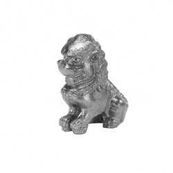 Foo Pair Of Silver Leaf Foo Dog Book Ends