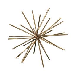 "Urchin 16"" Iron Asterisk In Gold Leaf"
