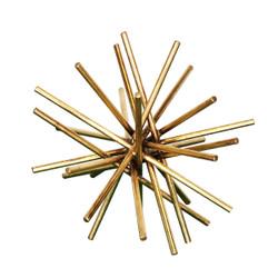 """Urchin 9"""" Diameter Gold Leafed Iron Asterisk"""