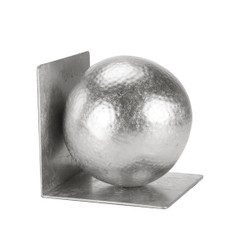 Wilder Silver Leaf Hammered Ball Bookends