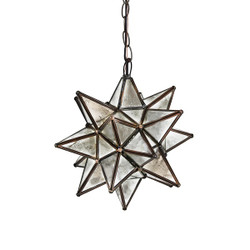 Worlds Away Small Star Chandelier With Antique Mirror