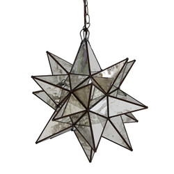 Worlds Away Large Star Chandelier With Antique Mirror