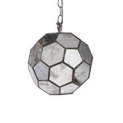 Knox Antique Mirror Faceted Ball Pendant