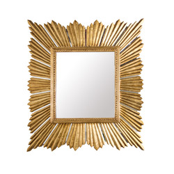 Raymond Extra Large Raymond Mirror In Gold Leaf
