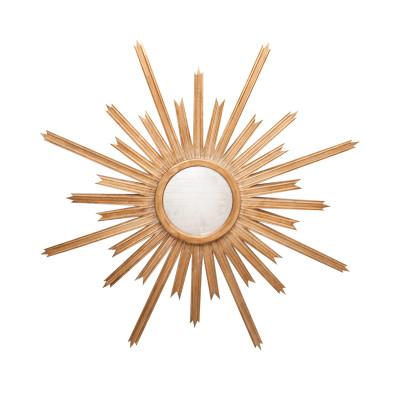Starlata Starburst Gold Leaf Mirror With Antique Mirror Inset