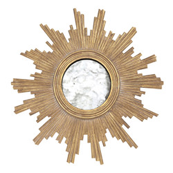 Versailles Gold Leafed Handcarved Mirror With Antqiue Mirror Inset