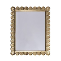 Eliza Mirror With Scalloped Edge Frame In Gold Leaf