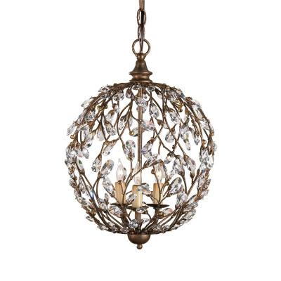 Crystal Bud Sphere Chandelier