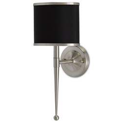 Primo Wall Sconce W/ Black Shade