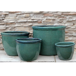 Anamese Roll Top Set of 4 Planters