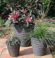 Anamese Strata Round Planter Set of 3