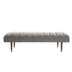 Christophe Bench Sharkskin Velvet Grey Ash - Sharkskin Velvet/Gray Ash