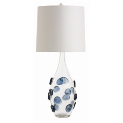 Edge Lamp - Clear/Navy Glass