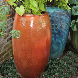Anamese Tall Egg Planter - Artesian Reef, Aqua, Blue, Copper, Glacier, Luna, Malachite, Sand, or Swamp