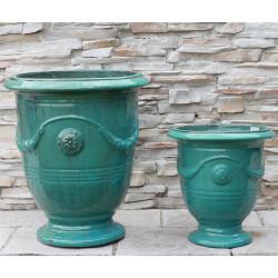 Anamese Anduze Urn - Medium or XL with Antique Aqua, Aqua, Blue, or Sand Finishes